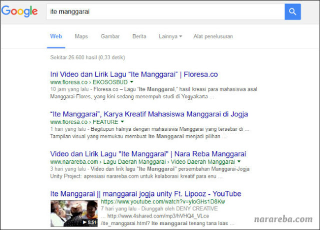 "Tentang Lagu ""Ite Manggarai"""