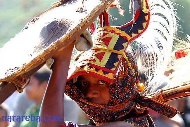 Young Manggarai Caci Dancer